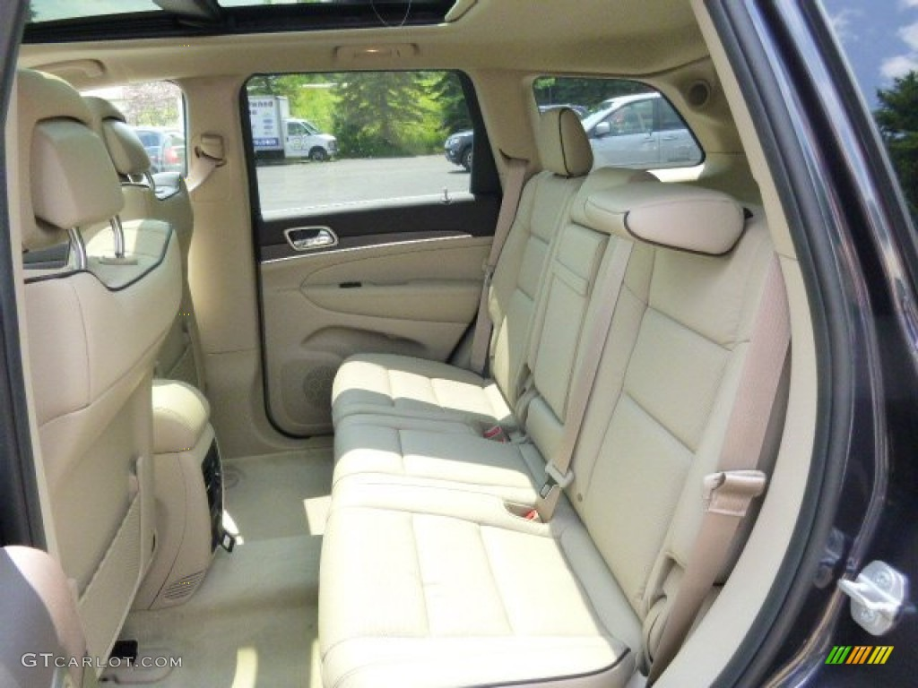 Brown Light Frost Beige Interior 2015 Jeep Grand Cherokee Overland 4x4 Photo 95967776