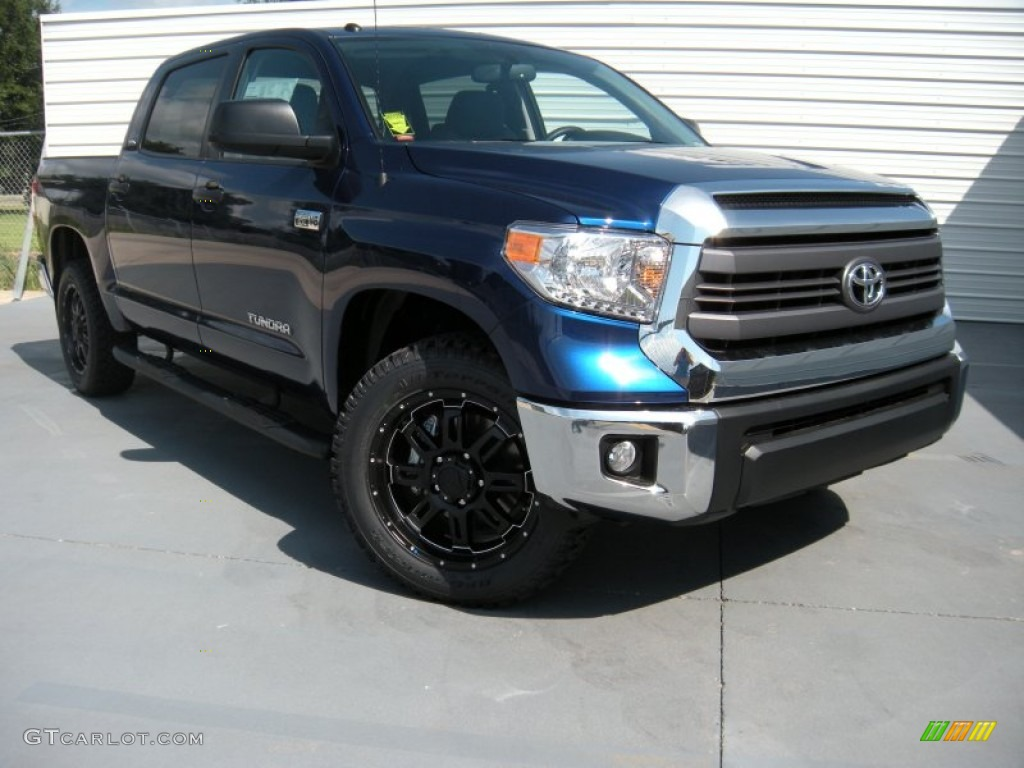 2014 Tundra TSS CrewMax - Blue Ribbon Metallic / Graphite photo #1