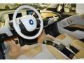 2014 BMW i3 Giga Cassia Natural Leather/Carum Spice Grey Wool Cloth Interior Prime Interior Photo