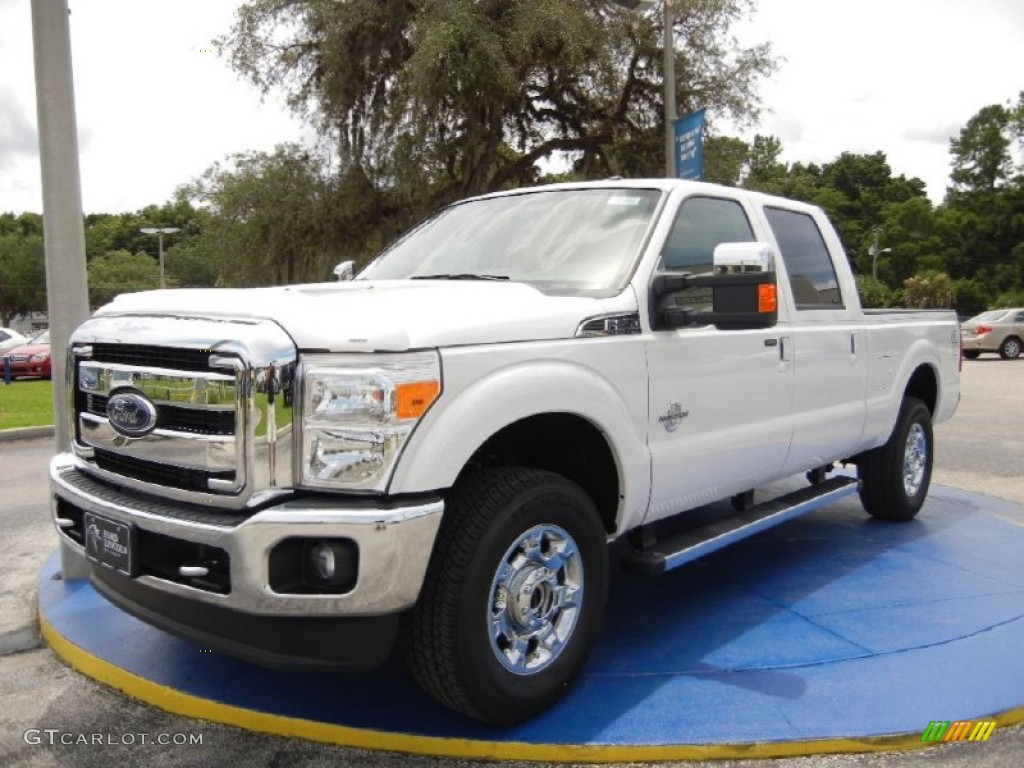 2015 white platinum ford f250 super duty lariat crew cab 4x4 96045220 car. Black Bedroom Furniture Sets. Home Design Ideas
