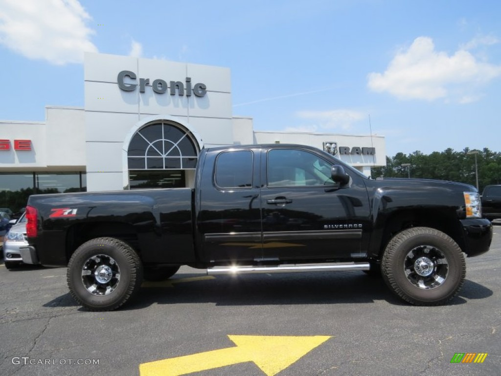 2013 Silverado 1500 LTZ Extended Cab - Black / Ebony photo #8