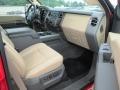 2012 Vermillion Red Ford F250 Super Duty Lariat Crew Cab 4x4  photo #36