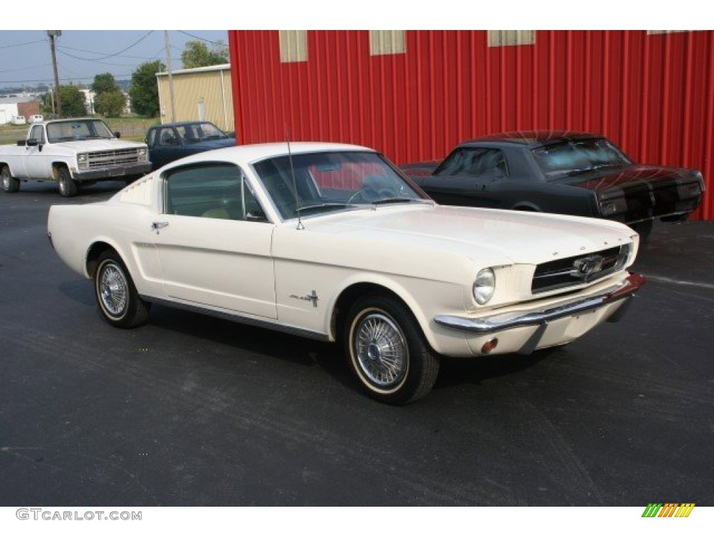 1965 Wimbledon White Ford Mustang Fastback 96125832 1964 Mach 1 Green Photo
