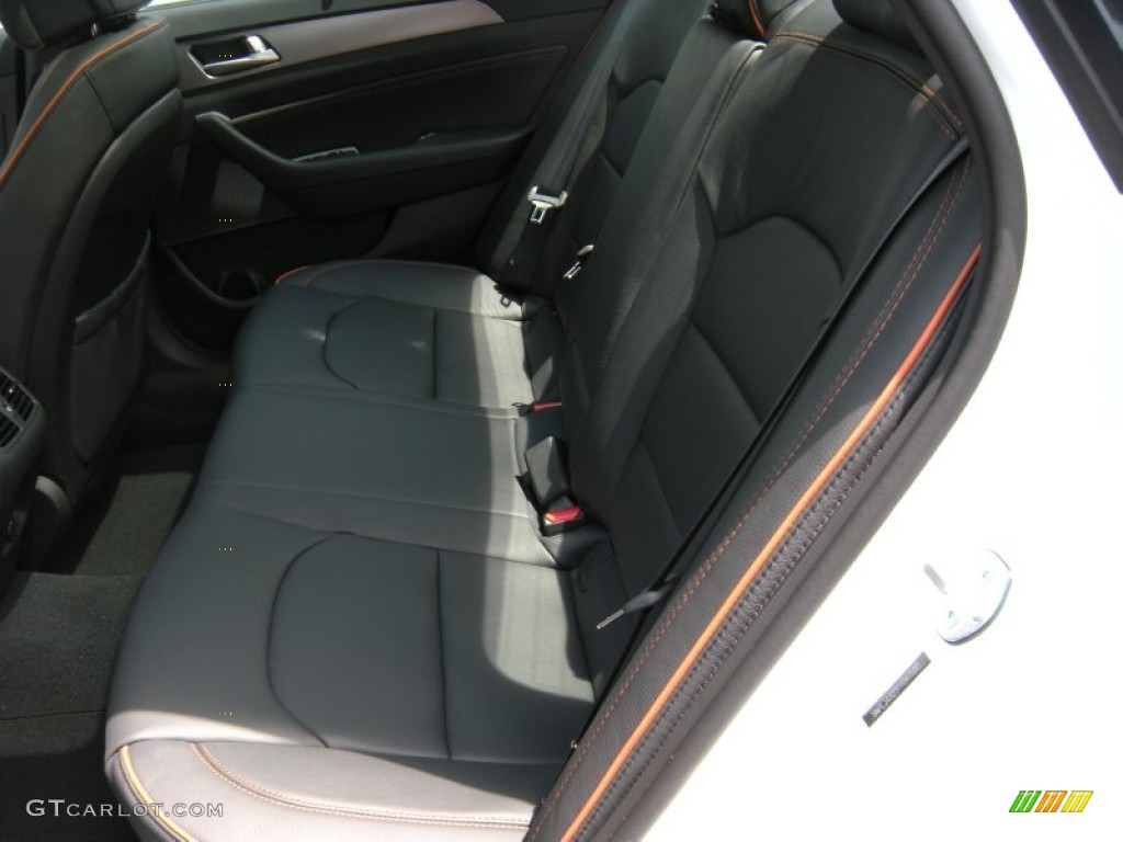 Black Orange Interior 2015 Hyundai Sonata Sport 2 0t Photo 96166814