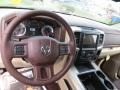 Canyon Brown/Light Frost Beige Steering Wheel Photo for 2014 Ram 1500 #96269673