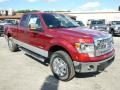 2014 Ruby Red Ford F150 XLT SuperCab 4x4  photo #2
