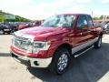 2014 Ruby Red Ford F150 XLT SuperCab 4x4  photo #4