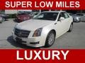 White Diamond Tricoat 2011 Cadillac CTS 3.0 Sedan