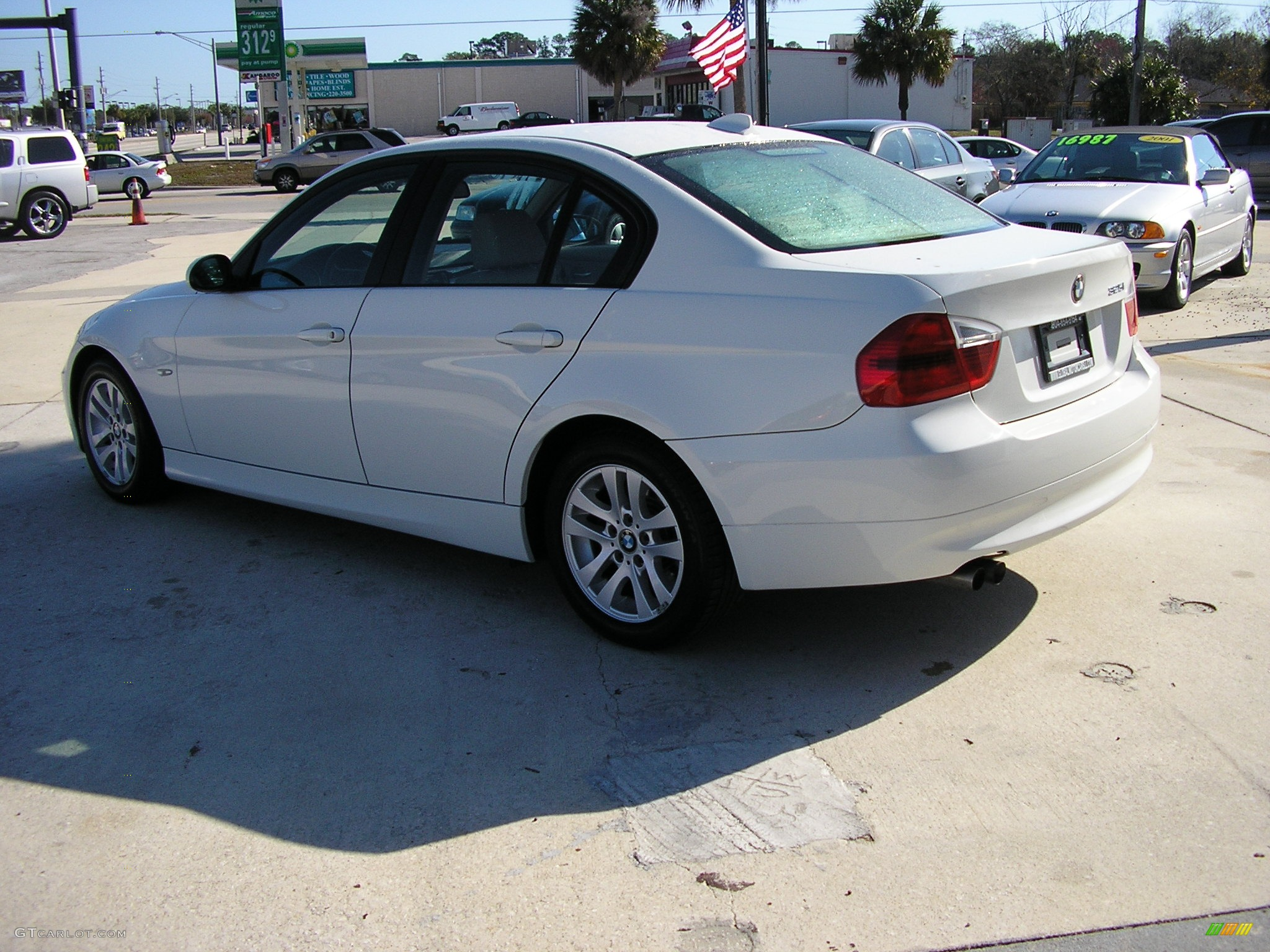 2006 bmw 3 series 325i sedan 2006 bmw 325i alpine white beige front left photo 96352. Black Bedroom Furniture Sets. Home Design Ideas
