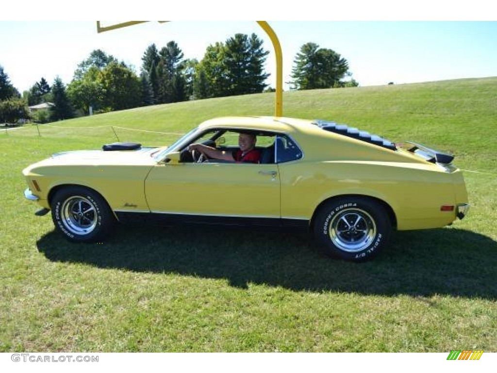 1970 Competition Yellow Ford Mustang Mach 1 96441957 Black
