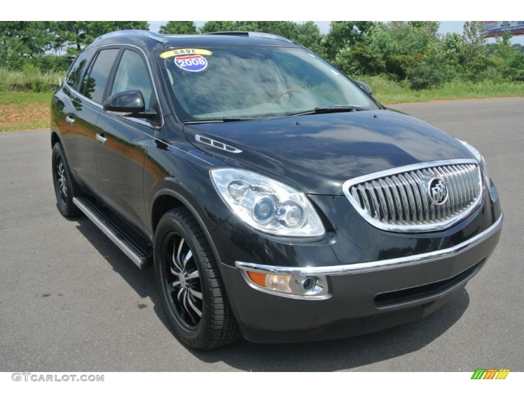 2008 Enclave CXL - Carbon Black Metallic / Titanium/Dark Titanium photo #1