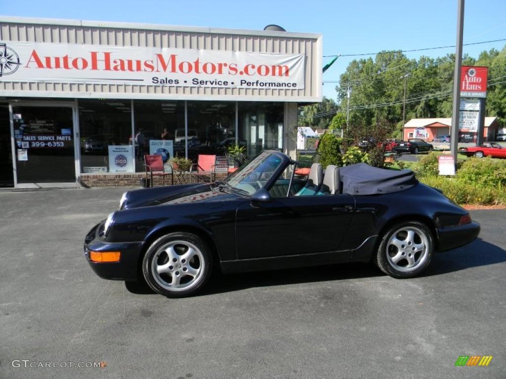 1993 911 Carrera Cabriolet - Midnight Blue Metallic / Classic Grey photo #1