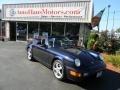 1993 Midnight Blue Metallic Porsche 911 Carrera Cabriolet  photo #2