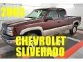2003 Dark Carmine Red Metallic Chevrolet Silverado 1500 LS Extended Cab 4x4 #96470538