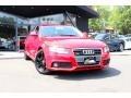 Brilliant Red 2009 Audi A4 2.0T Premium quattro Sedan