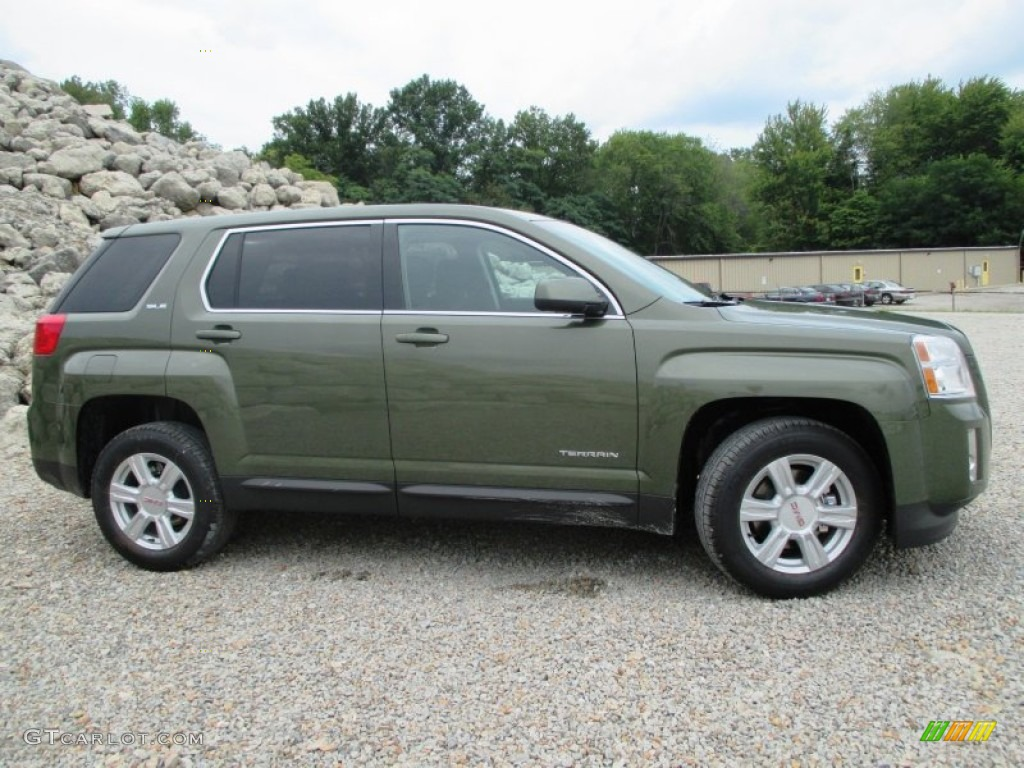 cypress green metallic 2015 gmc terrain sle exterior photo 96535914. Black Bedroom Furniture Sets. Home Design Ideas