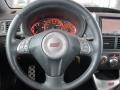2009 Subaru Impreza Graphite Gray Alcantara/Carbon Black Leather Interior Steering Wheel Photo