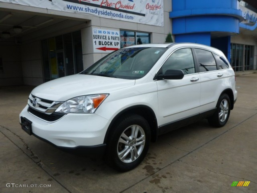 2011 CR-V EX 4WD - Taffeta White / Gray photo #1