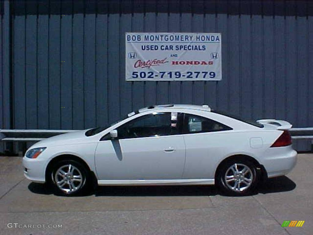 2006 Accord EX L Coupe   Taffeta White / Ivory Photo #1