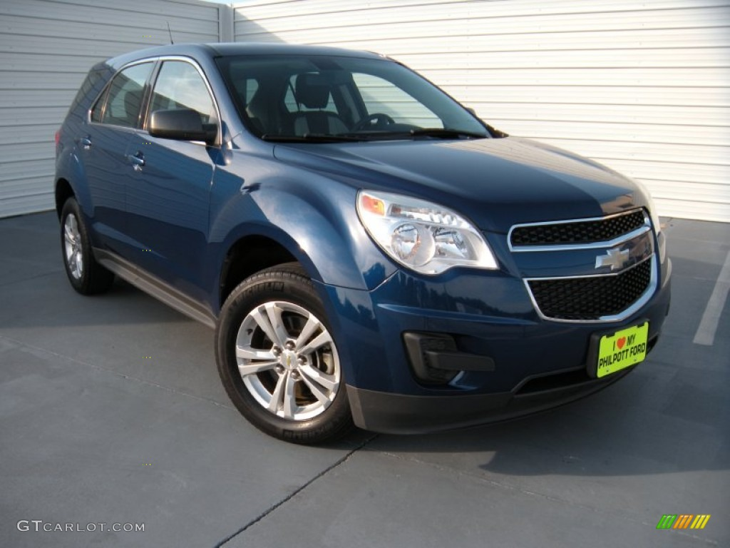2010 Equinox LS - Navy Blue Metallic / Jet Black/Light Titanium photo #1