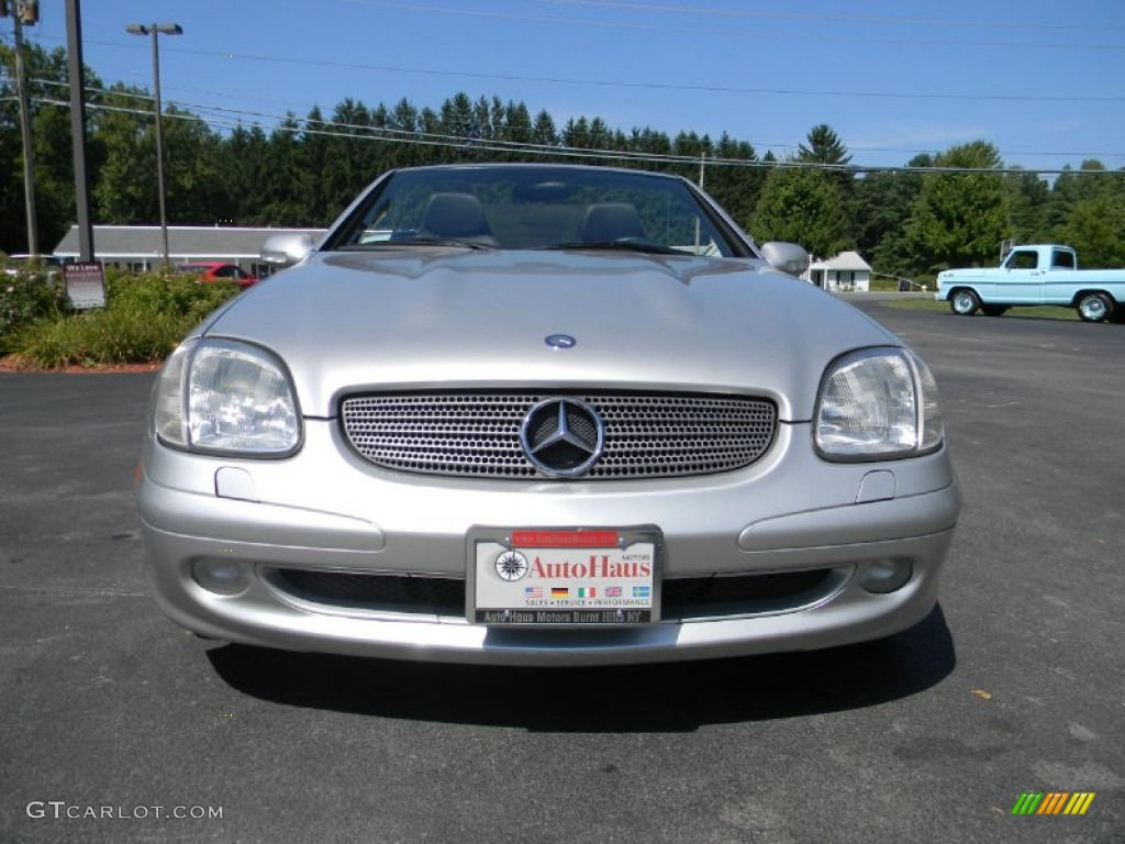 2001 SLK 230 Kompressor Roadster - Brilliant Silver Metallic / Charcoal Black photo #6