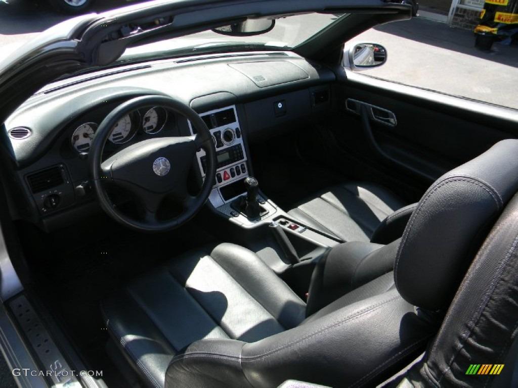 2001 SLK 230 Kompressor Roadster - Brilliant Silver Metallic / Charcoal Black photo #8