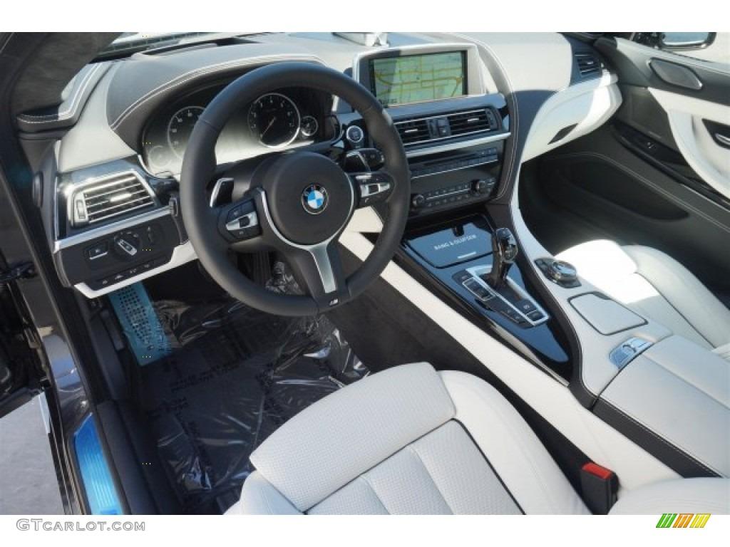 Ivory White Interior 2015 BMW 6 Series 650i Gran Coupe Photo 96757534