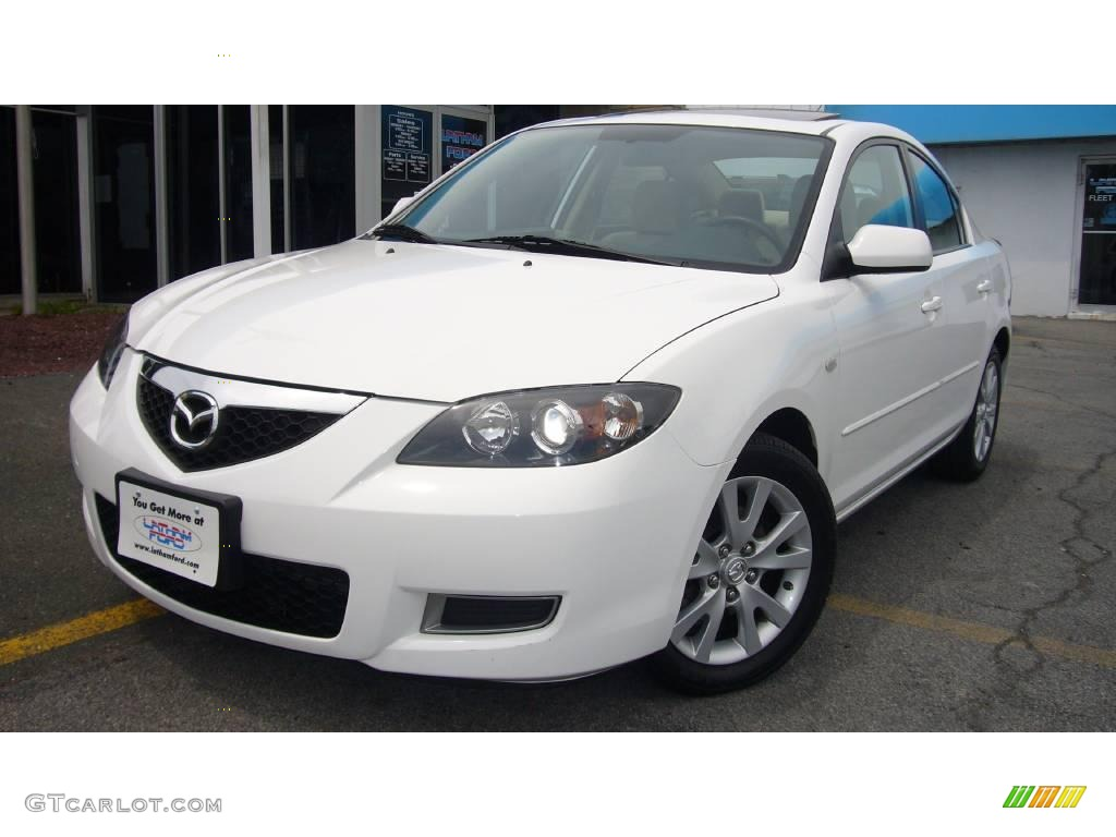 2007 rally white mazda mazda3 i sport sedan 9550239. Black Bedroom Furniture Sets. Home Design Ideas