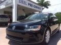 Black 2012 Volkswagen Jetta SE Sedan