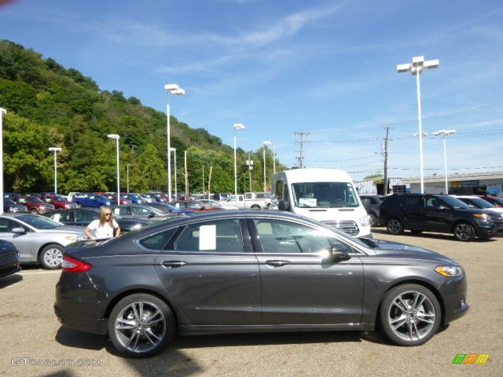 2015 fusion titanium awd magnetic metallic charcoal black photo 1