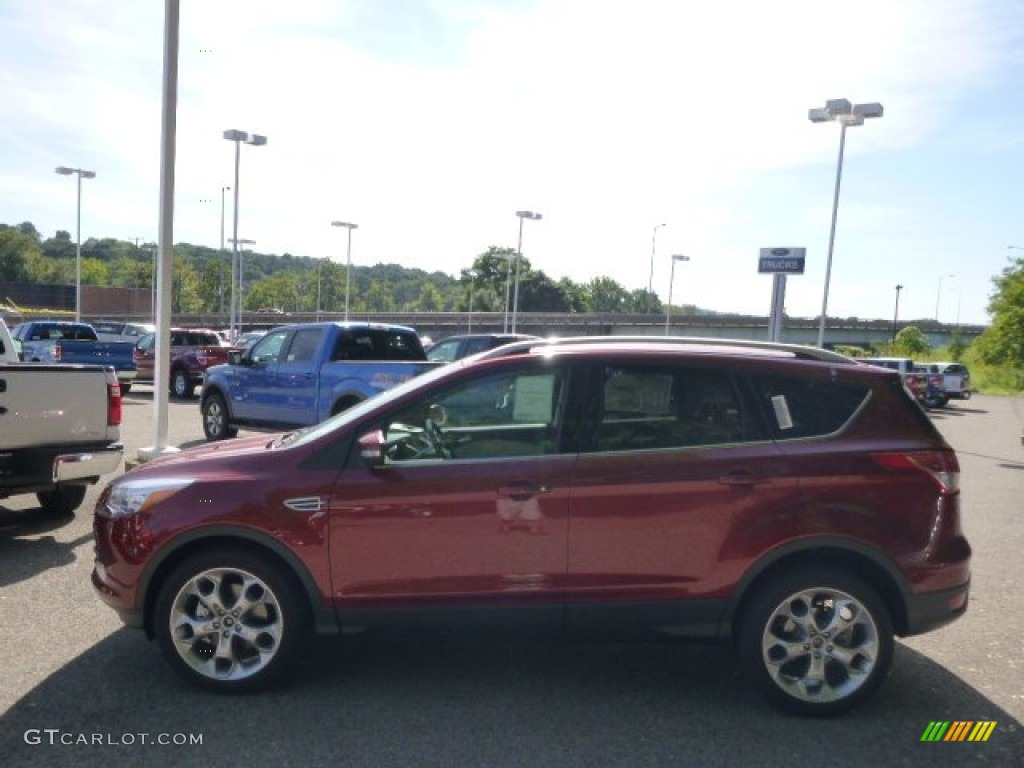 2014 Escape Titanium 2.0L EcoBoost 4WD - Sunset / Charcoal Black photo #5