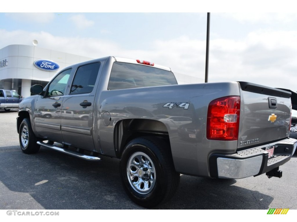 2012 Silverado 1500 LS Crew Cab 4x4 - Mocha Steel Metallic / Dark Titanium photo #29