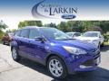 2014 Deep Impact Blue Ford Escape Titanium 2.0L EcoBoost 4WD  photo #1