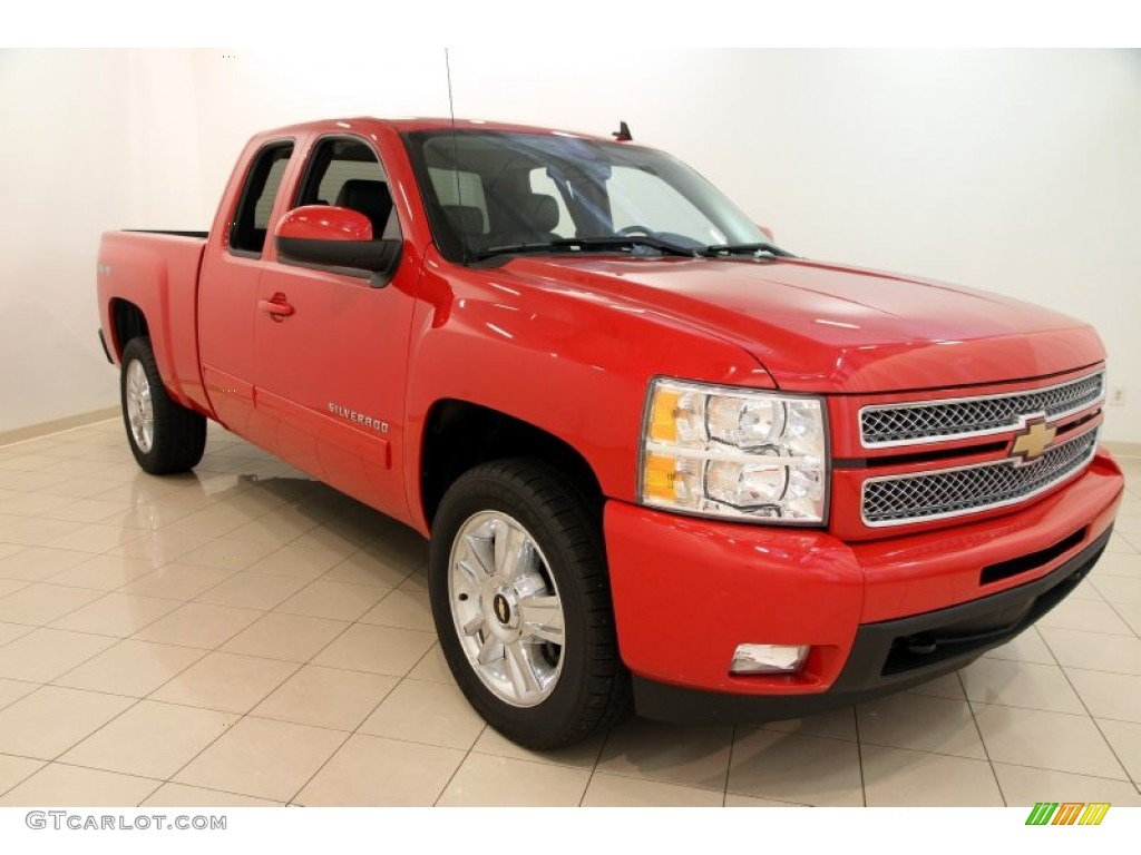 2013 Silverado 1500 LTZ Extended Cab 4x4 - Victory Red / Ebony photo #1