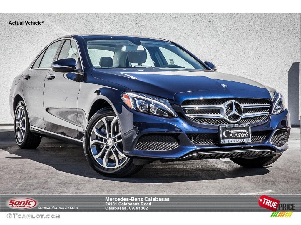 2015 lunar blue metallic mercedes benz c 300 4matic for Mercedes benz lunar blue