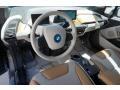 2014 BMW i3 Giga Cassia Natural Leather/Carum Spice Grey Wool Cloth Interior Interior Photo