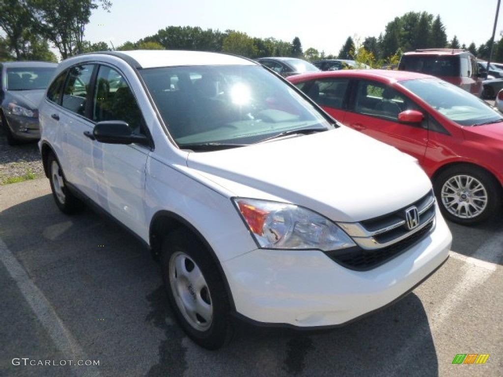 2010 CR-V LX AWD - Taffeta White / Gray photo #1