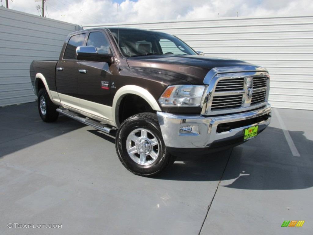 2010 rugged brown pearl dodge ram 2500 laramie crew cab 4x4 96953895 car color. Black Bedroom Furniture Sets. Home Design Ideas
