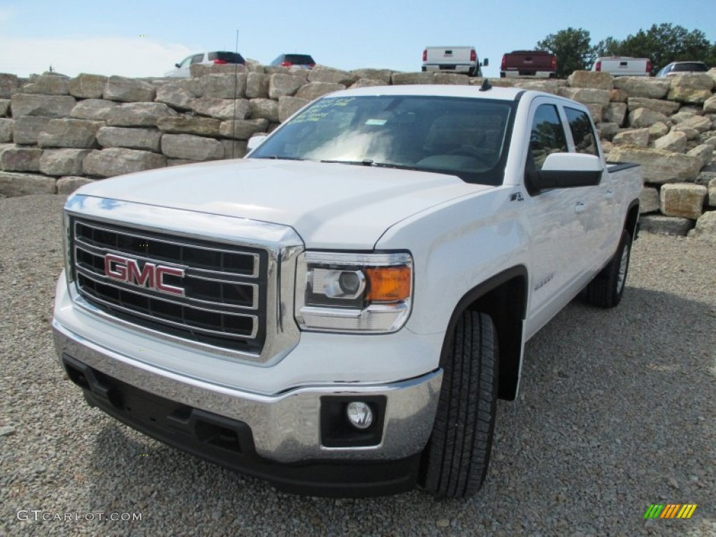 2014 summit white gmc sierra 1500 sle crew cab 4x4 97110685 photo 2 car color. Black Bedroom Furniture Sets. Home Design Ideas