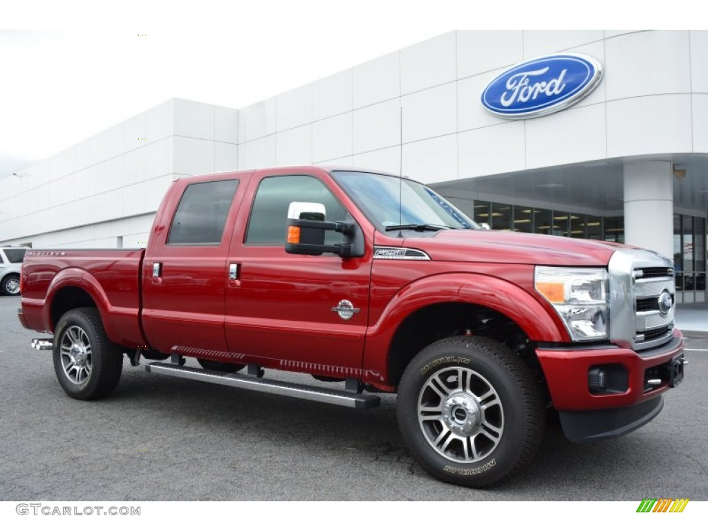 2015 ruby red ford f250 super duty platinum crew cab 4x4 97110463 car color. Black Bedroom Furniture Sets. Home Design Ideas