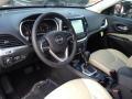 Black/Light Frost Beige 2015 Jeep Cherokee Interiors