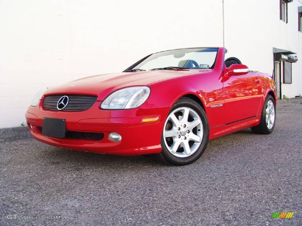 2001 magma red mercedes benz slk 230 kompressor roadster for 2001 mercedes benz slk230