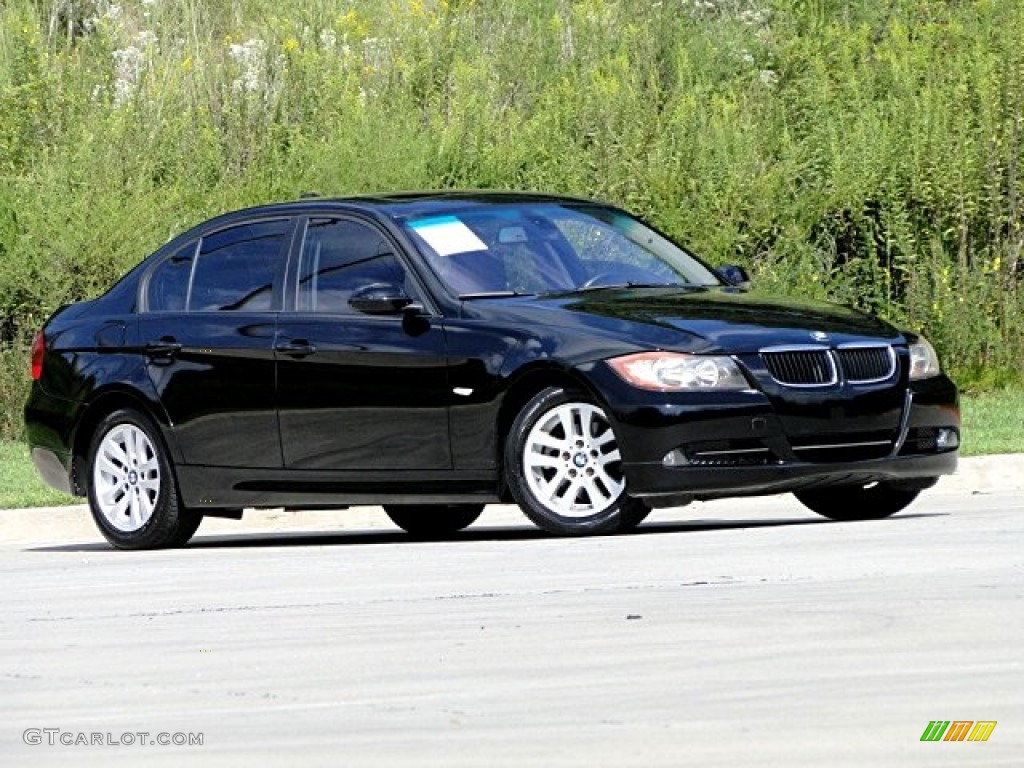 jet black 2006 bmw 3 series 325i sedan exterior photo. Black Bedroom Furniture Sets. Home Design Ideas
