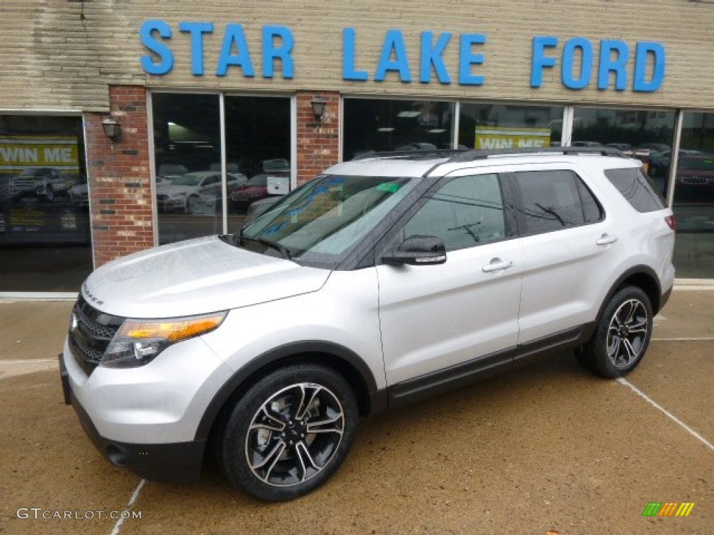 2015 explorer sport 4wd ingot silver sport charcoal black photo 1 - New 2015 Ford Explorer Black Color
