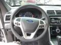 2015 Ford Explorer Sport Charcoal Black Interior Steering Wheel Photo