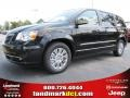 Brilliant Black Crystal Pearl 2015 Chrysler Town & Country Limited Platinum