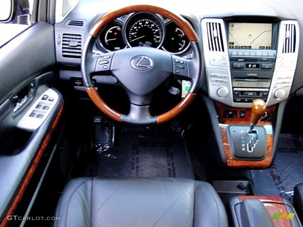 2008 lexus rx 400h hybrid black dashboard photo 97231231