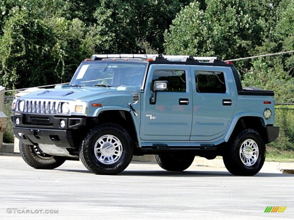 glacier blue metallic 2007 hummer h2 sut exterior photo. Black Bedroom Furniture Sets. Home Design Ideas