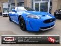 French Racing Blue 2013 Jaguar XK XKR-S Coupe