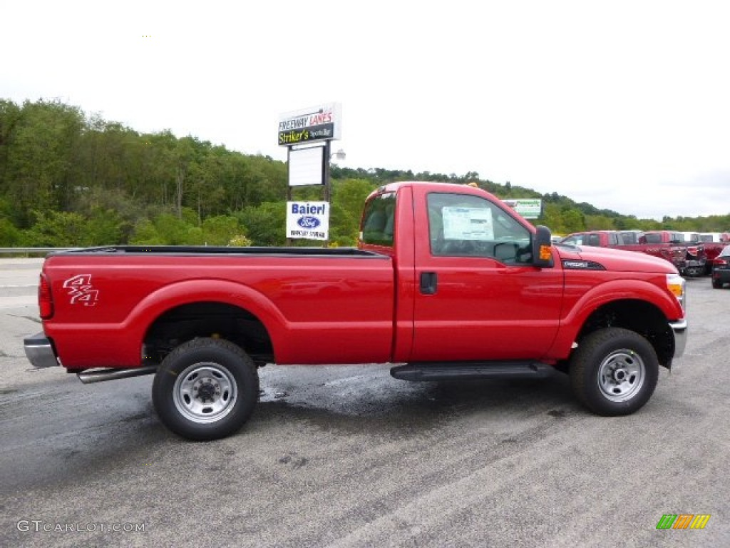 2015 vermillion red ford f250 super duty xl regular cab. Black Bedroom Furniture Sets. Home Design Ideas